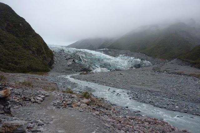 El glaciar no está muy lejos del aparcamiento