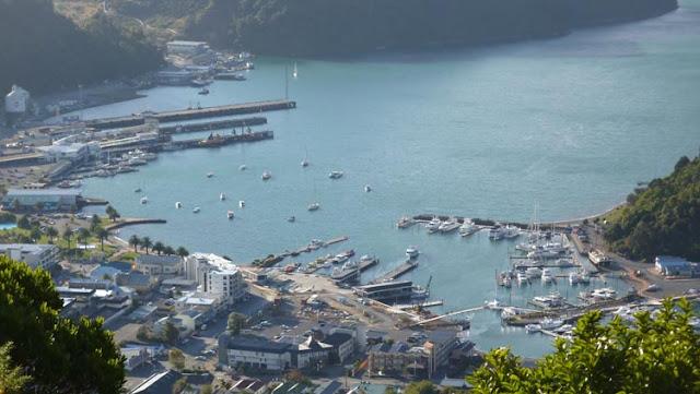 Puerto de Picton, isla Sur de Nueva Zelanda