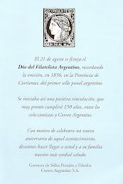 """21 de Agosto """"Día del Filatelista Argentino"""""""