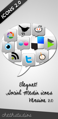 Elegant Social Media Icons Version 2.0