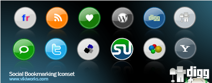 Social Bookmark Iconset