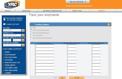 YRC Tracking Number - my.yrc.com Tracking trucking online