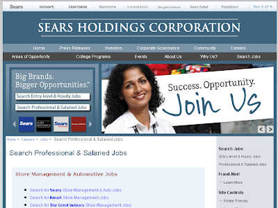 Sears Holdings Careers - Sears Kmart Jobs Online