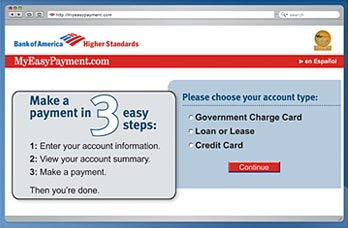 www.Myeasypayment.com for Bank of America - Myeasypayment