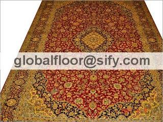 silk rugs india