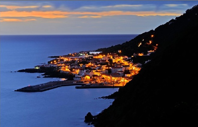 NIGHT FALL IN CALHETA TOWN