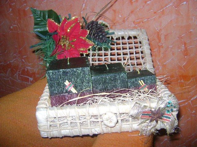 Arranjo de Velas de  Natal