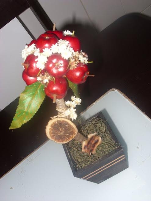 topiaria maçã vermelha
