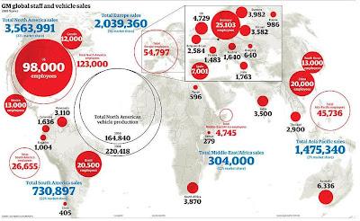 全世界のGMの従業員数