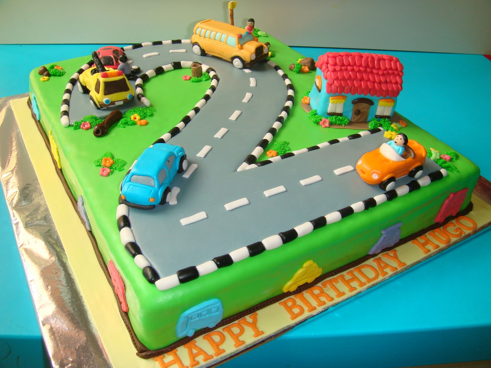 Cake Designs For A Two Year Old Boy : Yummy Baking: Car Theme Fondant Birthday Car