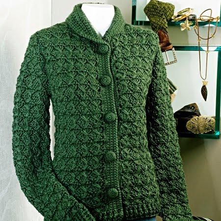 Casaco Verde De Croch