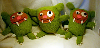 monster,green monster,monster doll, handmade