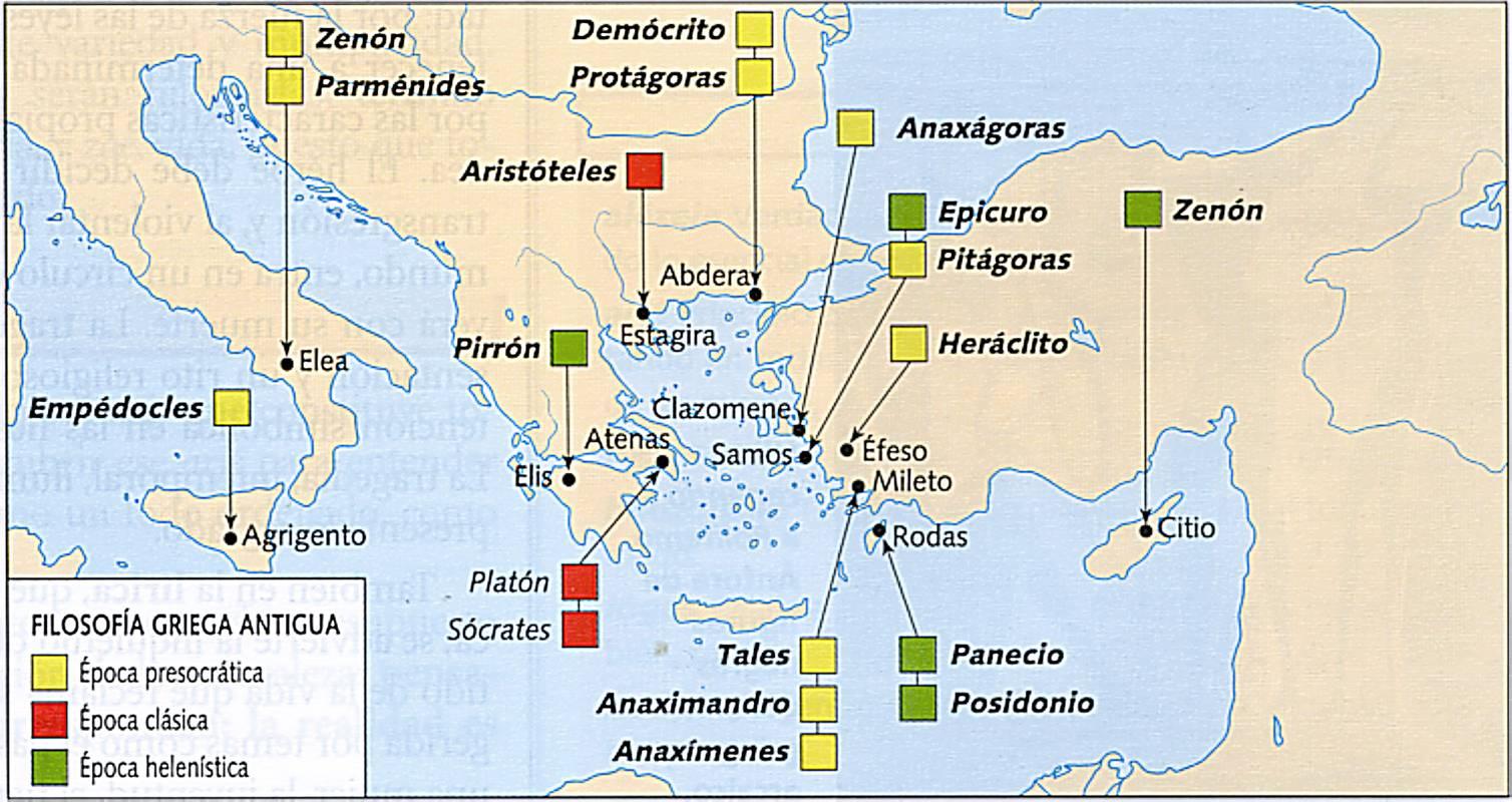 Filosof a antigua ucss mapa de la grecia antigua y sus for Cajeros cerca de mi ubicacion
