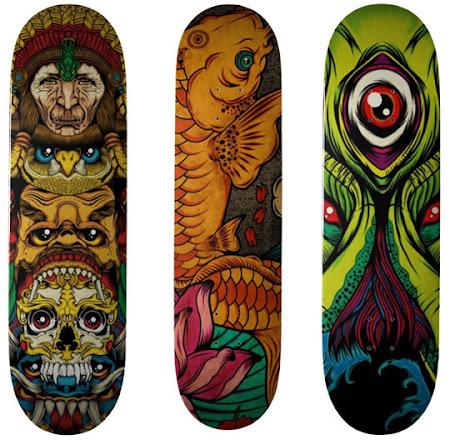 Desenhos no Shape do Skate