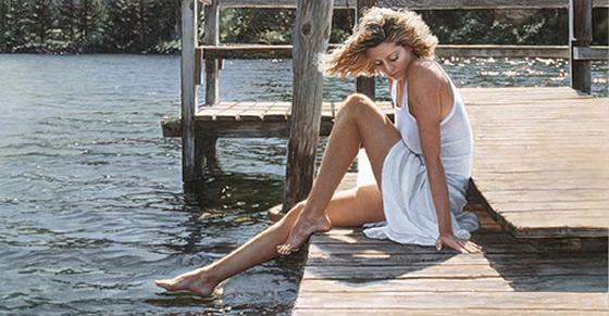 A sensualidade feminina nas pinturas de Steve Hanks - 06