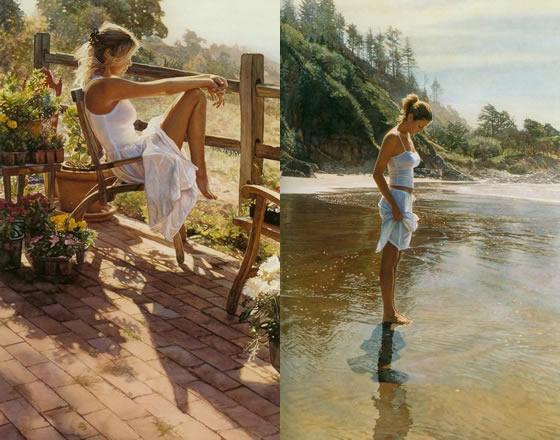 A sensualidade feminina nas pinturas de Steve Hanks - 04