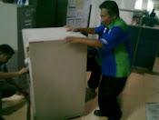 pindahan 3 unit brandkas chubb di Bank Mandiri Samanhudi