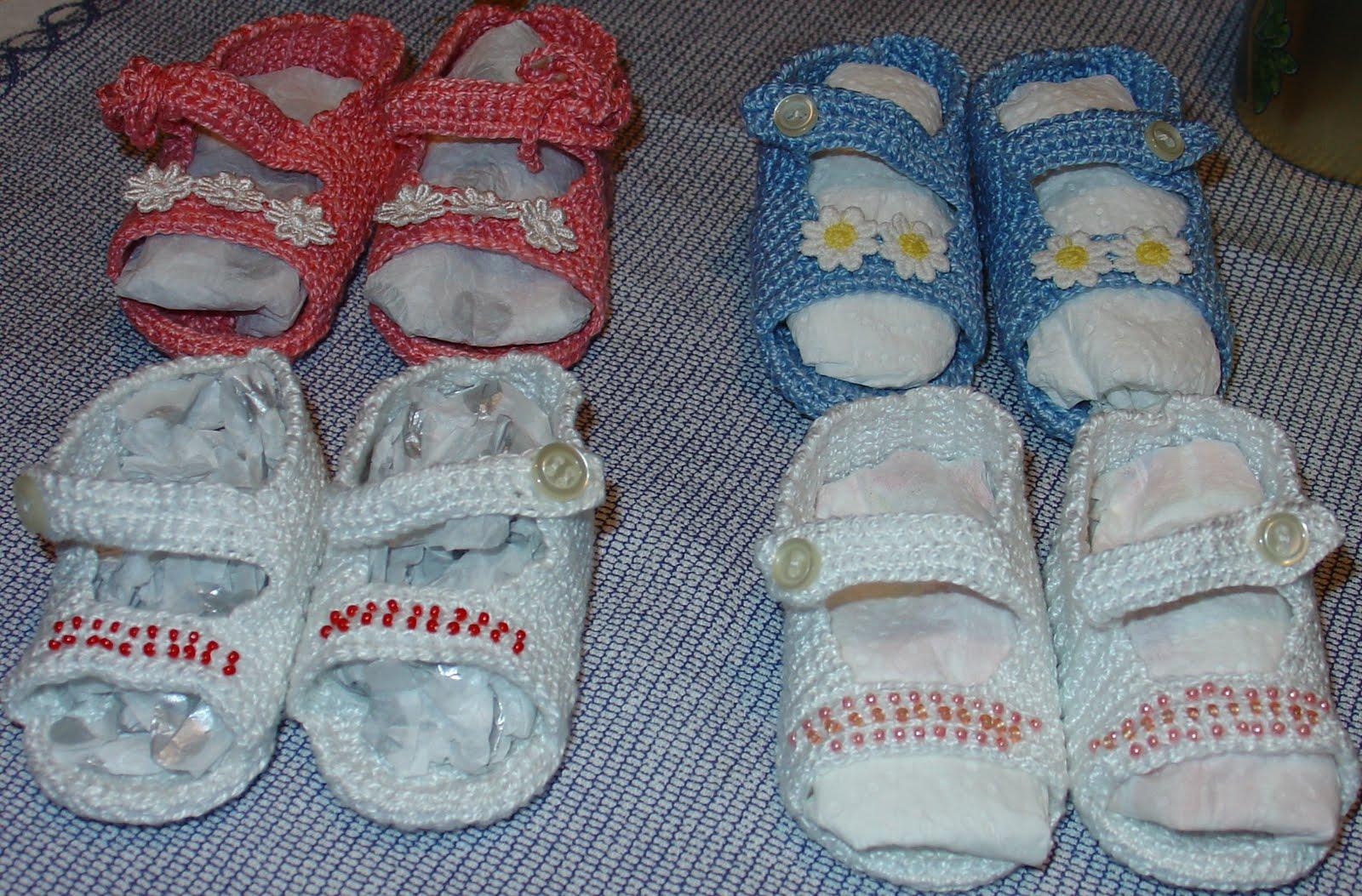 EL RINCON DE MERY: sandalias a crochet para bebe