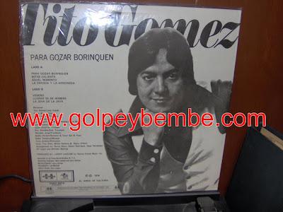 Tito Gomez - Pa' Gozar Borinquen Back