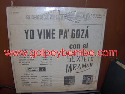 Sexteto Miramar - Yo Vine Pa' Goza Back