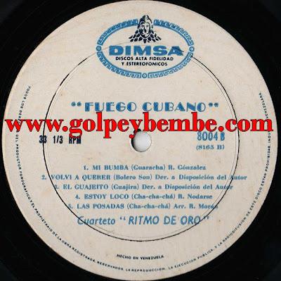 Cuarteto Ritmo de Oro - Fuego Cubano