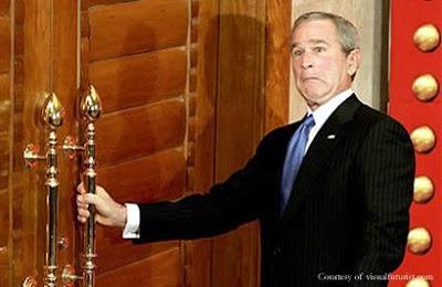 bush locked out