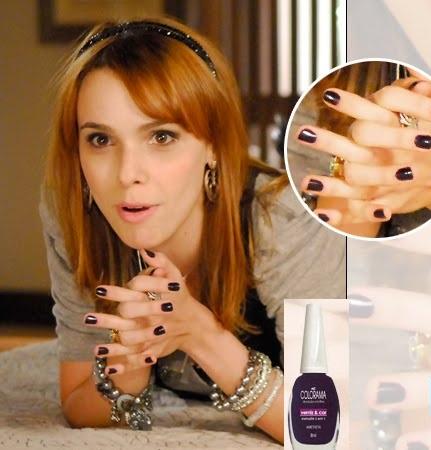 Beatriz (Deborah Falabella) exibe em suas unhas o roxo escuro ...