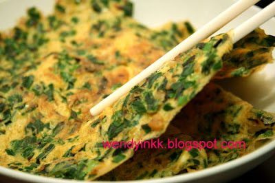 Chinese Chives Omelette 韭菜煎蛋