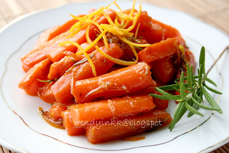 ... or more: Braised Carrots with Orange and Rosemary - Fruit Week # 4
