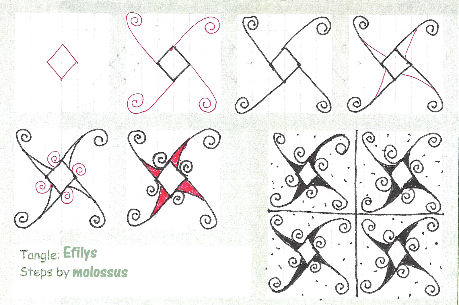 Zentangles Patterns Step By Step My tangle pattern: Efi...