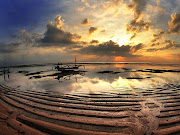 . beautiful beach, sea background, sunset beach, tropical beach (sanur beach bali sunrise )