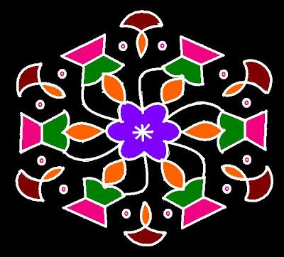 Rangoli/Kolam With Dots 1