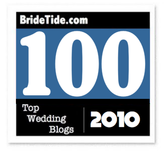 Bridetide blog wedding resource top 100 wedding blogs and top 100 wedding blogs and twitters to follow in 2010 junglespirit Choice Image