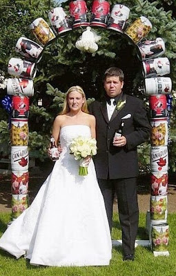 Beer Keg Wedding Arch