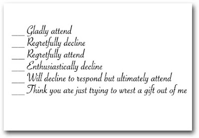 BrideTide Blog - Wedding Resource: Funny Wedding RSVP
