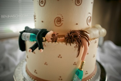 drunk wedding cake