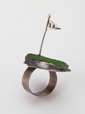 golf wedding ring