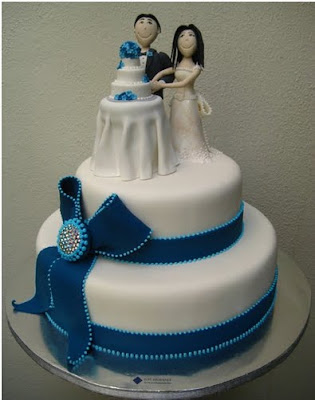 Wedding Cake On A Wedding Cake