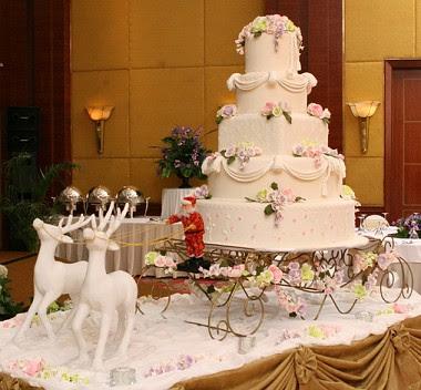 Christmas Wedding Cake,