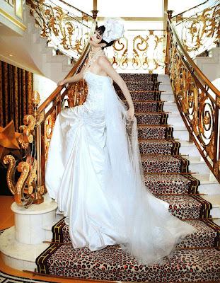 Leopard wedding centerpiece