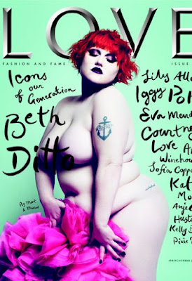 beth ditto, katie grand, Love Magazine, WWD, cover, Fashion Blog