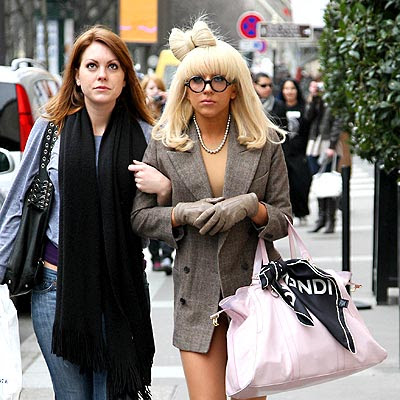 Just a normal shopping day. No pants. It's apparently a Lady GaGa