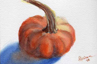 orange watercolor pumpkin
