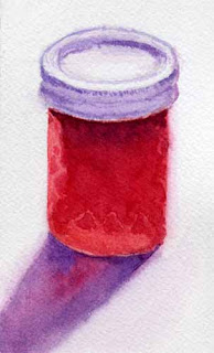 watercolor jelly jar