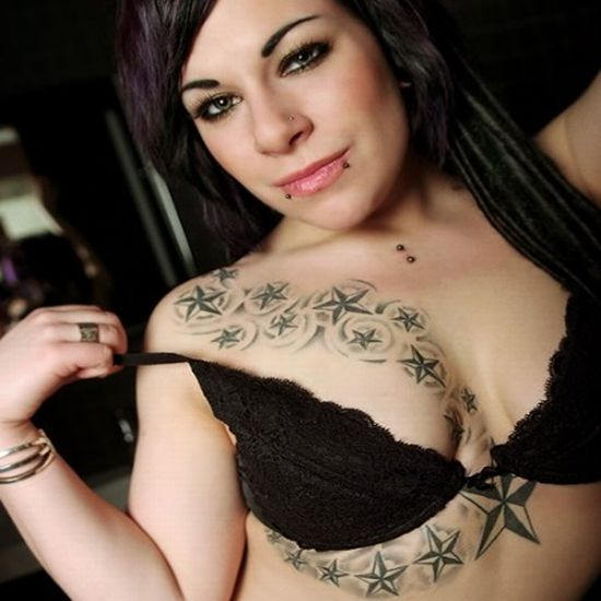 Tattoos for Girl With Nice Body Tattoo Typically Star Tattoo Photos