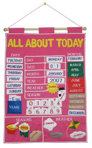 como hacer un calendario en ingls