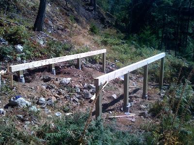 Gambier Island Cabin Week 2 Posts Beams And Floor Joists