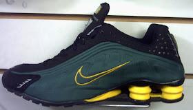 nike shox r4 verde e amarelo