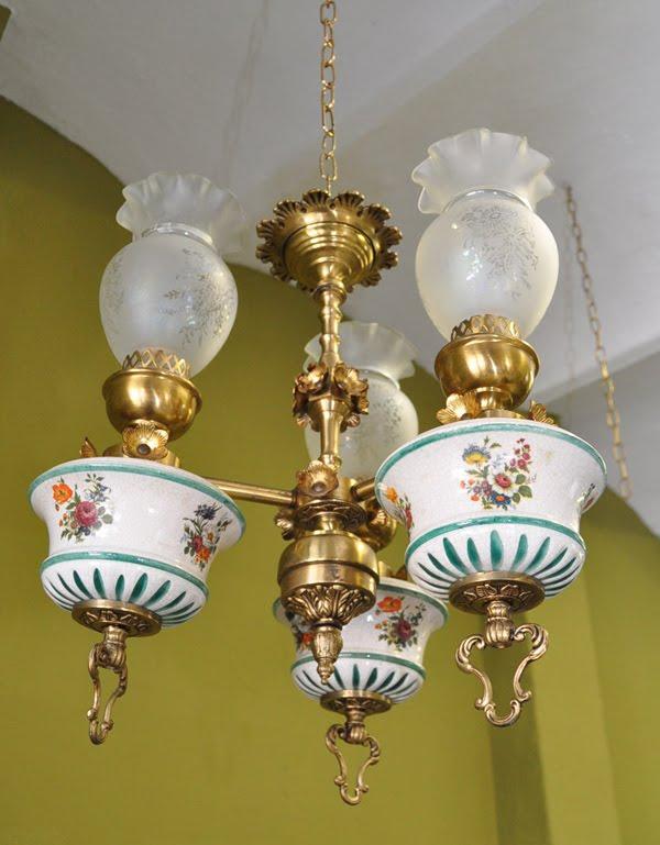 Lamparas cebria lampara de bronce y cer mica ref 29 for Lamparas de ceramica