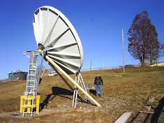 Antena Patriot de 3.8m in timpul constructiei